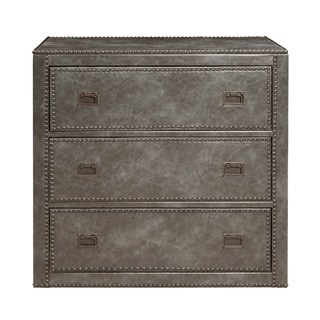 Faux Distressed Leather Vintage Grey Chest