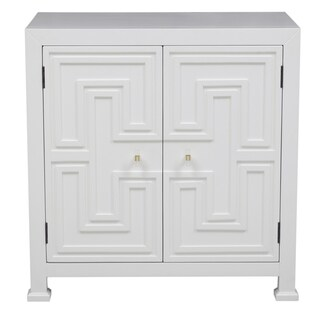 Hand Painted White Finish Accent Chest