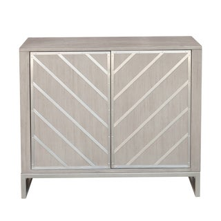 Hand Painted Light Grey Finish Accent Chest