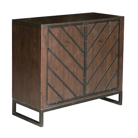 Hand-Painted Dark Chocolate Brown Finish Accent Chest - 15.98 x 36.02 x 32.01
