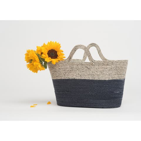 Handmade Mayfair Navy Tote or Storage Basket (Bangladesh)