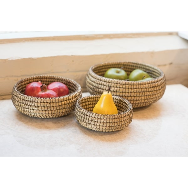 Fab Habitat Indoor Storage Basket - Kaisa - Set of 3 Bowls - Oak