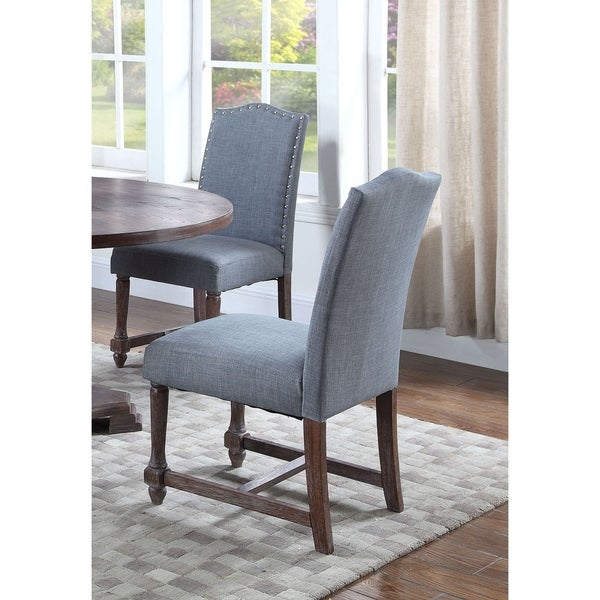 best master furniture fabric with rustic wood side chairs (set of