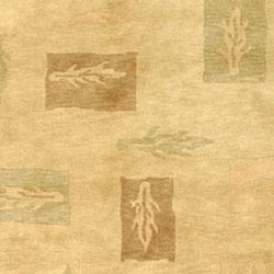 Safavieh Hand-knotted Tibetan Beige/ Multi Wool Rug (6' x 9') - Thumbnail 1