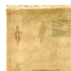 Safavieh Hand-knotted Tibetan Beige/ Multi Wool Rug (6' x 9') - Thumbnail 2