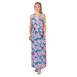 Women's Groovy Printed Fashion Women Maxi Dress (Large)