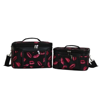 World Traveler Hot Lips 2-Piece Train Cosmetic Case Set