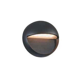 Chloe Transitional 1-light Textured Black Outdoor LED Wall Sconce