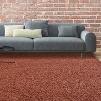 iCustomRug Bella Shag Rug - Luxurious and Thick In Rust - 4' x 6'
