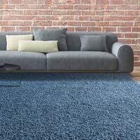 iCustomRug Bella Shag Rug - Luxurious and Thick In Indigo Blue - 4' x 6'