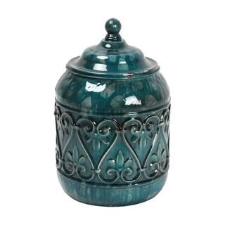 """8"""" Blue Metal Jar"""