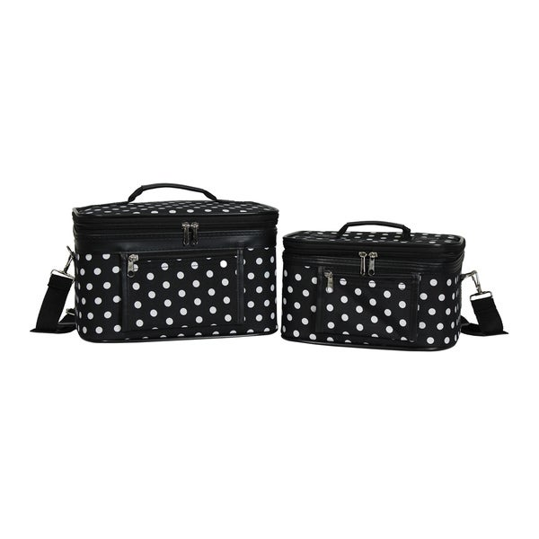 1933cc81dd7 Shop World Traveler Polka Dot 2-Piece Train Cosmetic Case Set - Free  Shipping On Orders Over $45 - Overstock.com - 19532264