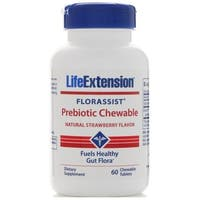 Life Extension Florassist Prebiotic Chewables Strawberry (60 Tablets)