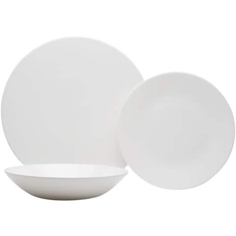 Extreme White Flat Round 18pc set