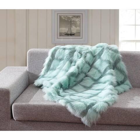 Channeled Fauxfur Throw Blanket