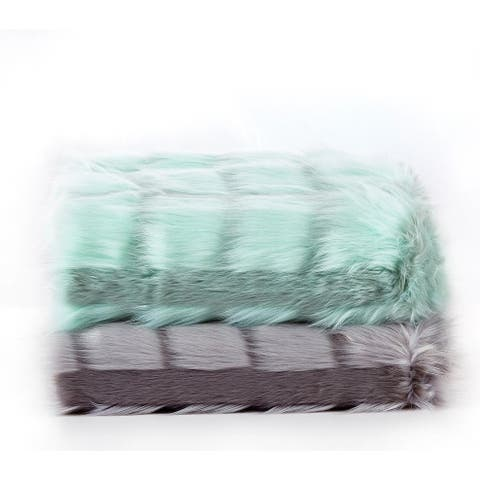 Channeled Fauxfur Throw Blanket
