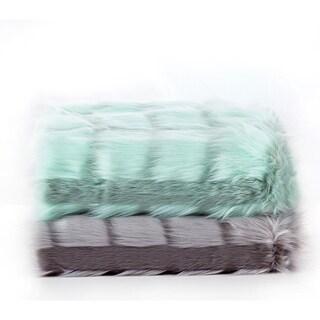 De Moocci Jacquard Sculpted Faux Fur Throw - 50 in x 60 in