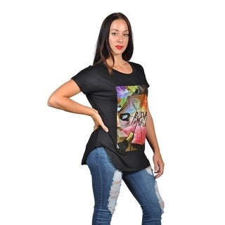 Womens Fashion Multi Color with Bang print Plus Size Graphic Tees Top