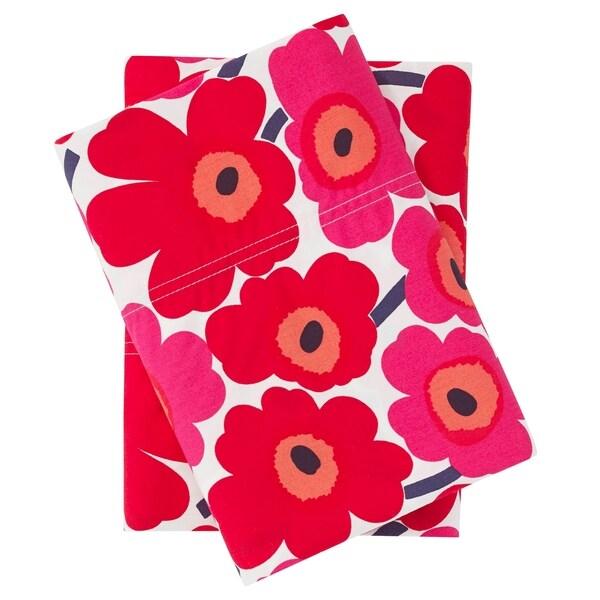Red Queen Marimekko Unikko Sheet Set