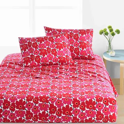 Marimekko Unikko Cotton Percale Bed Sheet Set