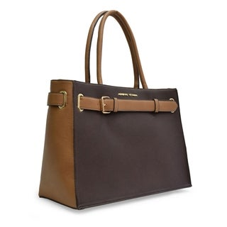 Adrienne Vittadini 2-Tone Workbook Tote w/Padded Workbook Sleeve