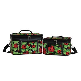 World Traveler Ladybug 2-Piece Train Cosmetic Case Set