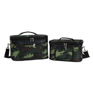 World Traveler Camouflage 2-Piece Train Cosmetic Case Set