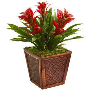 Link to Triple Bromeliad Artificial Plant in Decorative Planter Similar Items in Decorative Accessories