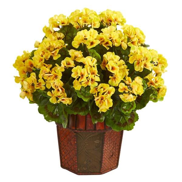 Geranium Artificial Plant in Decorative Planter