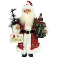 "15"" Merry Christmas Claus Figurine"