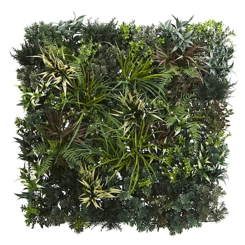 3' x 3' Greens & Fern Artificial Living Wall UV Resist (Indoor/Outdoor)