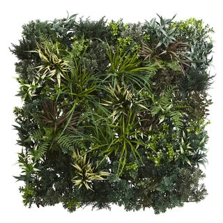 3' x 3' Greens & Fern Artificial Living Wall UV Resist (Indoor/Outdoor)