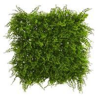 "20"" x 20"" Lush Mediterranean Artificial Fern Wall Panel UV Resistant (Indoor/Outdoor)"