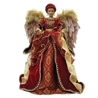 "16"" Holiday Seasonal Decor African American Diva Angel Christmas Tree Topper"