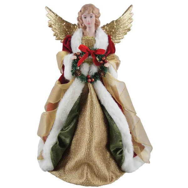 "Shop 16"" Holiday Seasonal Decor Angel Christmas Tree Topper - Free Shipping Today - Overstock - 19532752"