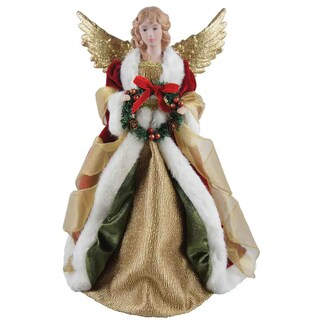 "16"" Holiday Seasonal Decor Angel Christmas Tree Topper"