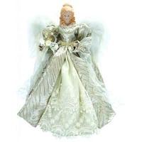 "16"" Holiday Seasonal Decor Silver Elegance Angel Christmas Tree Topper"