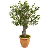 3' Olive Artificial Tree in Terracotta Planter