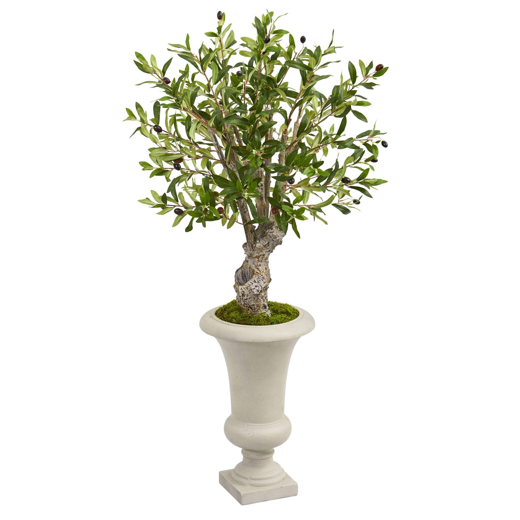 "Nearly Natural 40"" Olive Artificial Tree in Urn (Green Red)"