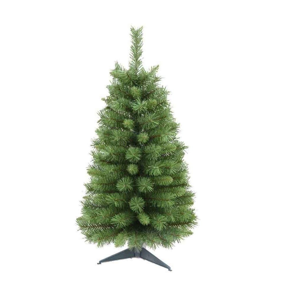 3' Holiday Seasonal Home Decor Canadian Pine Christmas Tr...