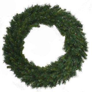 """48"""" Holiday Christmas Decor Multi Pine Wreath With 400 Tips"""