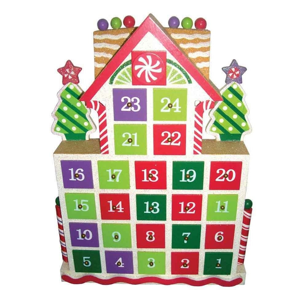 "15.5"" Gingerbread Advent Calendar (Advent Calendar), Mult..."
