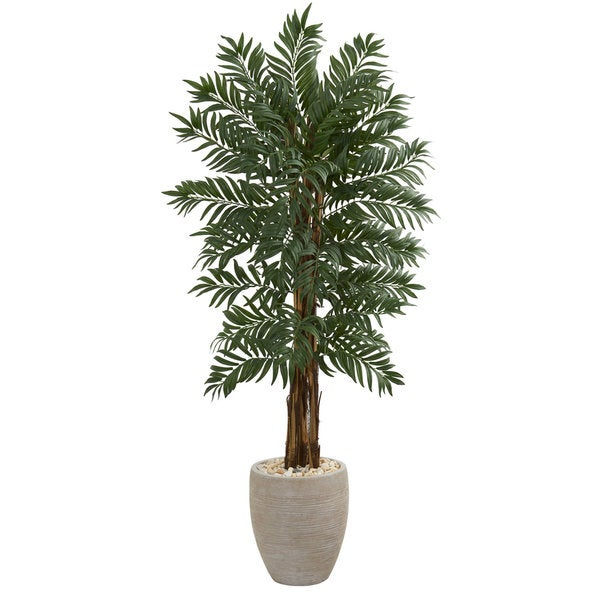 5' Parlor Artificial Palm Tree in Decorative Planter