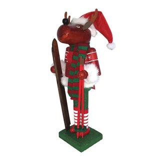 "14"" Reindeer Skier Nutcracker"