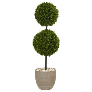 Link to 4' Boxwood Double Ball Topiary Artificial Tree in Oval Planter UV Resistant (Indoor/Outdoor) Similar Items in Decorative Accessories