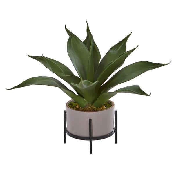 "14"" Agave Succulent in Decorative Planter"