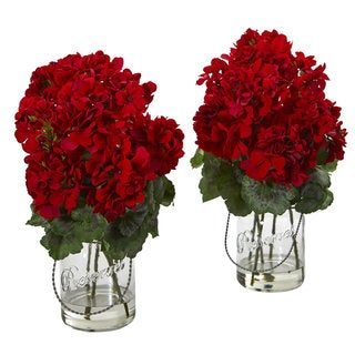 Geranium Artificial Arrangement (Set of 2)