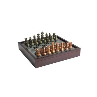 Elle Decor Chess Game With Glass Top