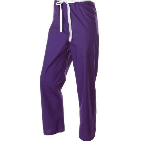 Medline Rich Purple Unisex Reversible Drawstring Scrub Pants