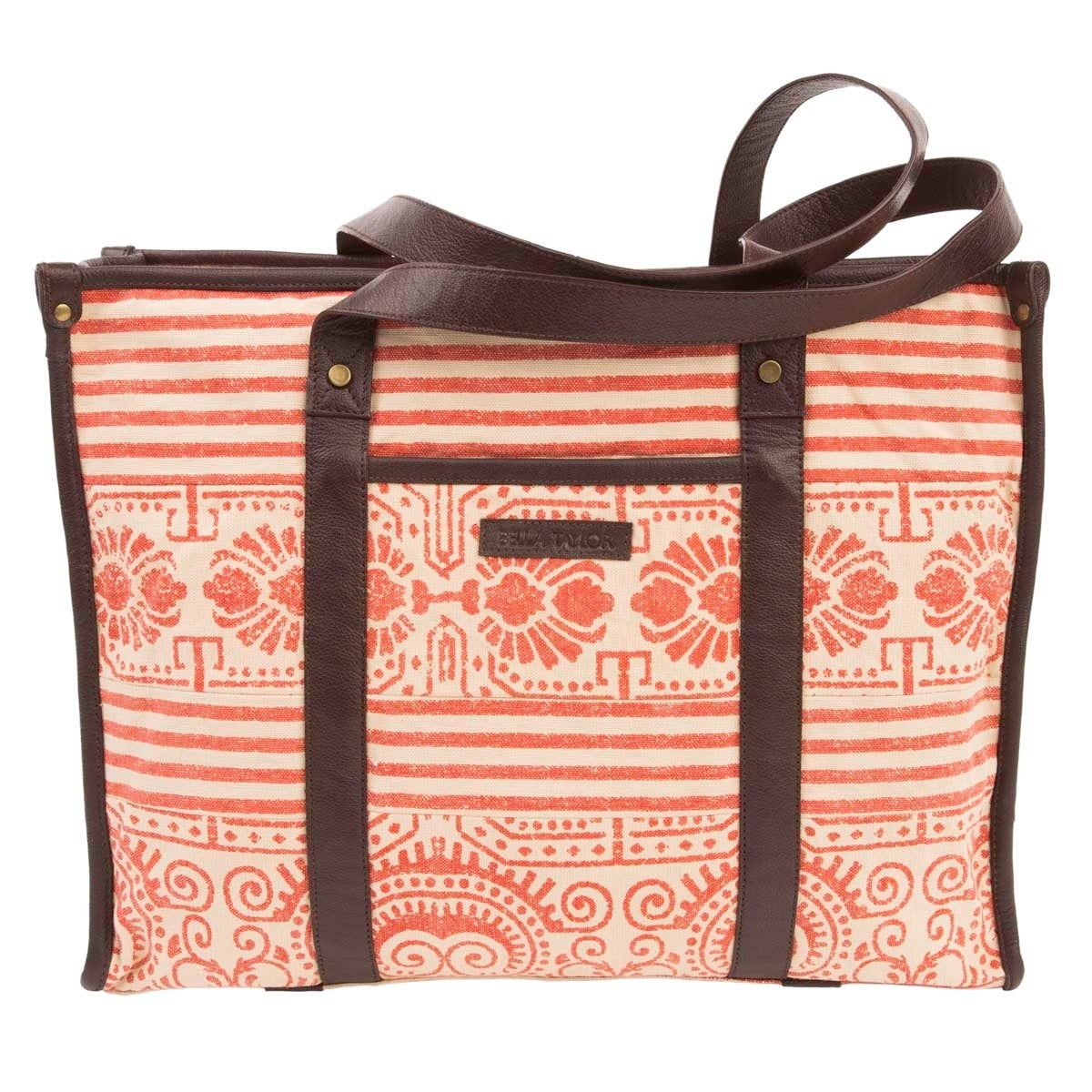 VHC Brands Bella Taylor Amber Market Tote, Women's, Orang...